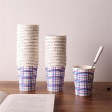 50 mô hình đơn giản kinh doanh văn phòng ăn mặc một gói dùng một lần ly gia thực phẩm cấp lưới cốc giấy sọc Cốc dùng một lần