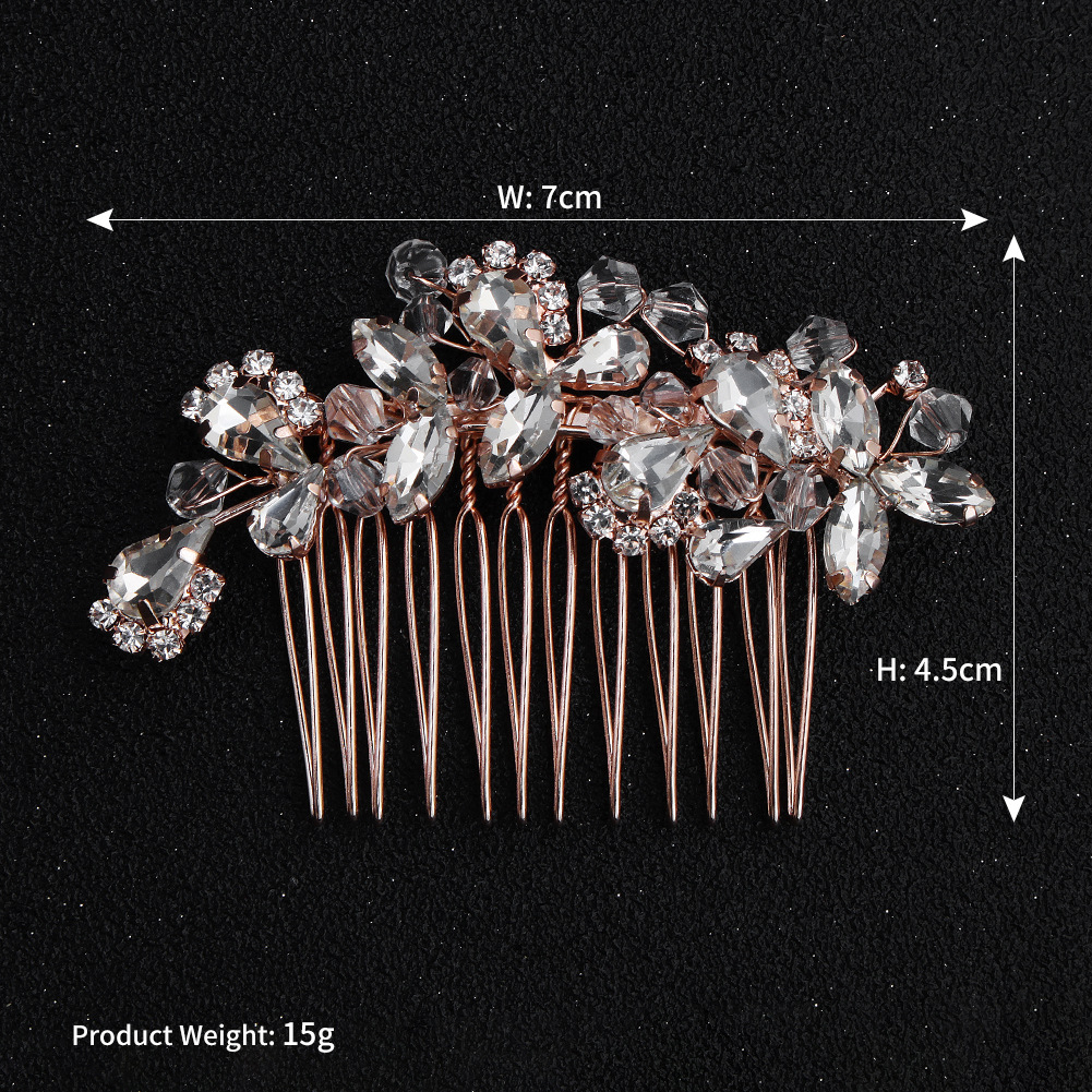 Imitated crystal&CZ Fashion Sweetheart Hair accessories  (Alloy) NHHS0606-Alloy