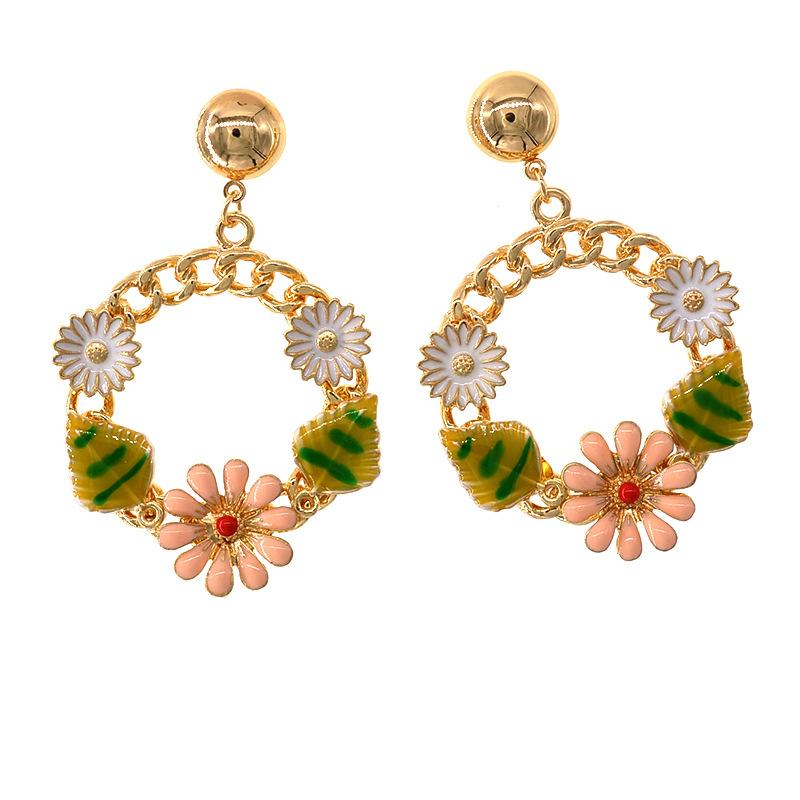 Alloy Vintage Flowers earring  Alloy NHNT0591Alloy