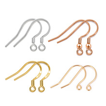 S925純銀耳鉤配件耳環耳飾品鍍黃金手工DIY純銀配件廠家直銷批發
