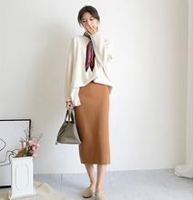 SY301 韩国大衣伴侣半裙系列~无敌百搭显瘦针织包臀半身裙现货