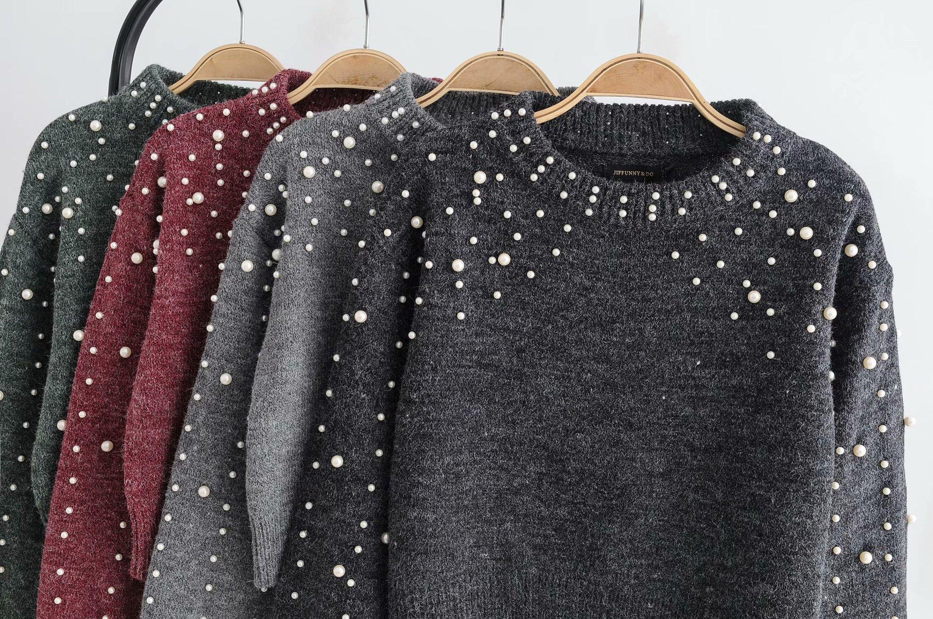 Polyester Fashion  Sweater  (black-L) NHAM6462-black-L