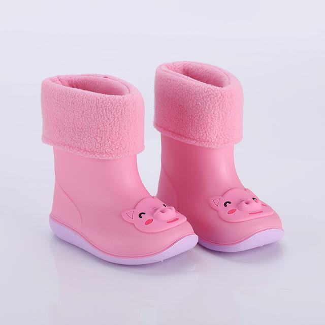 Giày đi mưa trẻ em Nhật Bản ủng đi mưa cho trẻ em Giày đi mưa cho trẻ em Giày đi nước có thể tháo rời cộng với nhung cộng với ủng đi mưa Giày đi mưa