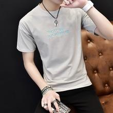 2018夏季新款男士短袖t恤韩版潮流圆领半袖青少年修身个性男装衣