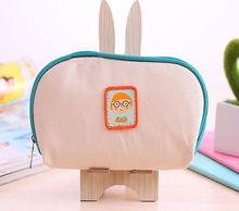深圳廠家直銷韓版PU化妝包 化妝收納包 小清新零錢包 卡通筆袋兒