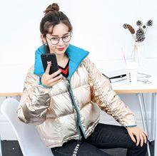 2018冬季新款韩版立领面包服羽绒服女双面穿宽松大版短款加厚外套
