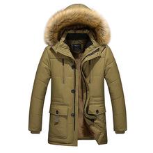 一件代发男士中青年冬装外套2018新款棉服加绒加厚休闲连帽保暖衣