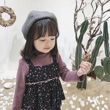 女童秋装两件套 2018新款韩版纯棉小碎花吊带娃娃裙阔腿裤套装