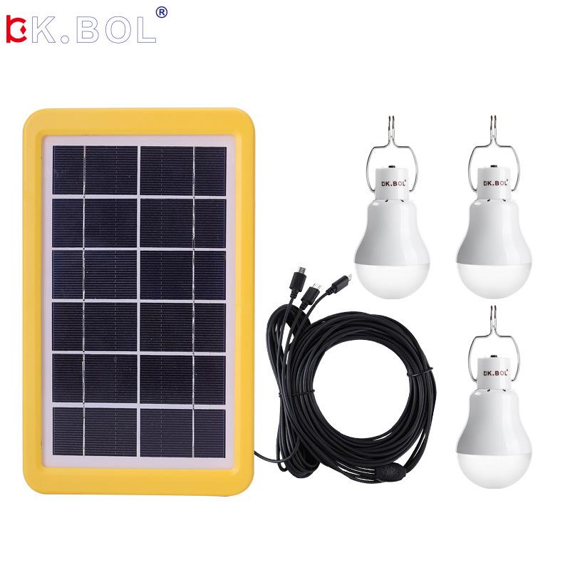 太阳能发电光控感应家用免线便携应急照明充电灯户外小型电源系统