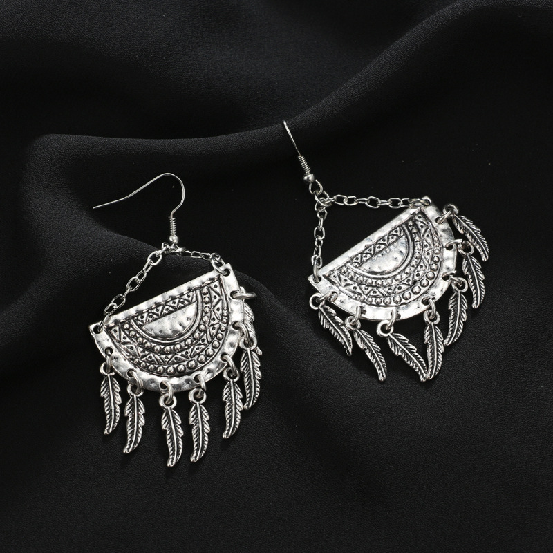 Alloy Vintage Geometric earring(Main color) NHGY1703-Main color
