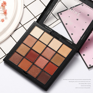 16 color eyeshadow cross-border INS with the same matte earth color girly makeup beginner lazy eyeshadow palette wholesale