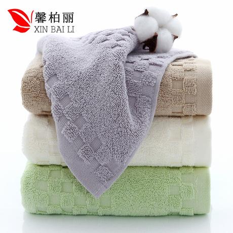 Gaoyang khăn bán buôn Jacquard vuông bông vỡ khăn quà tặng bảo hiểm lao động siêu thị khăn LOGO