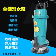 厂家直销220V电动家用小型潜水泵微型农用灌溉清水泵水井用抽水泵