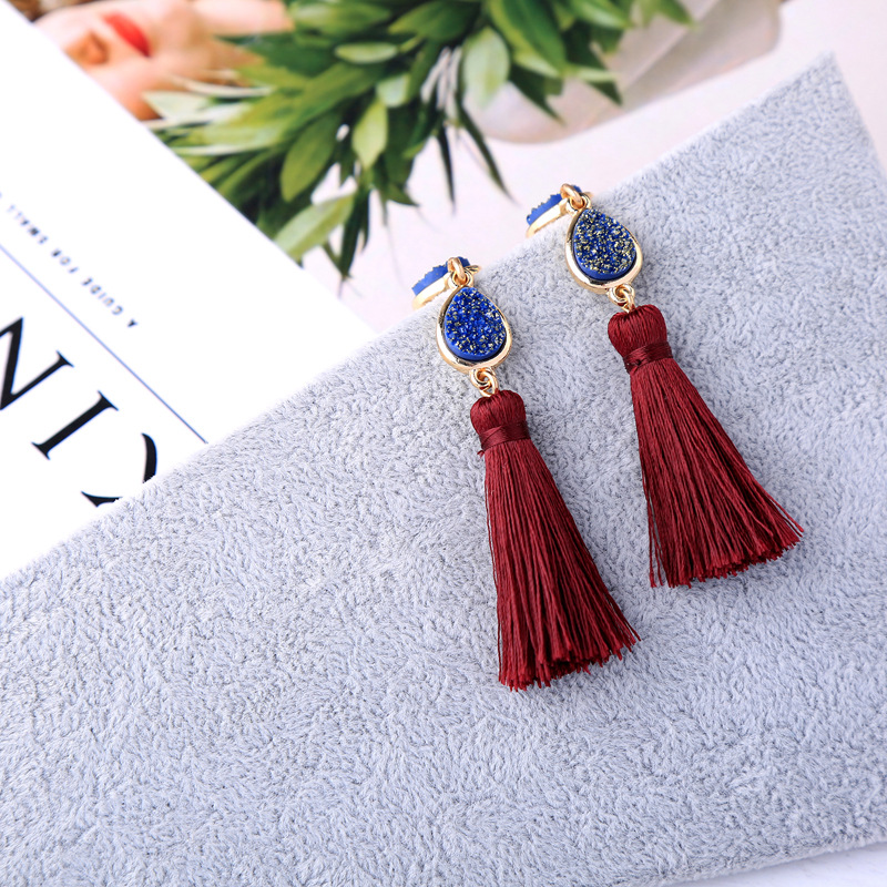 Alloy Fashion Tassel earring(Photo Color) NHQD5097-Photo Color