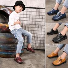 跨境童鞋真皮皮鞋儿童春秋款表演鞋牛皮休闲鞋韩版儿童单鞋批发