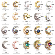 Japanese Nail Jewelry  Alloy Star Moon Rivet Star Moon Nail Patch 20 optional