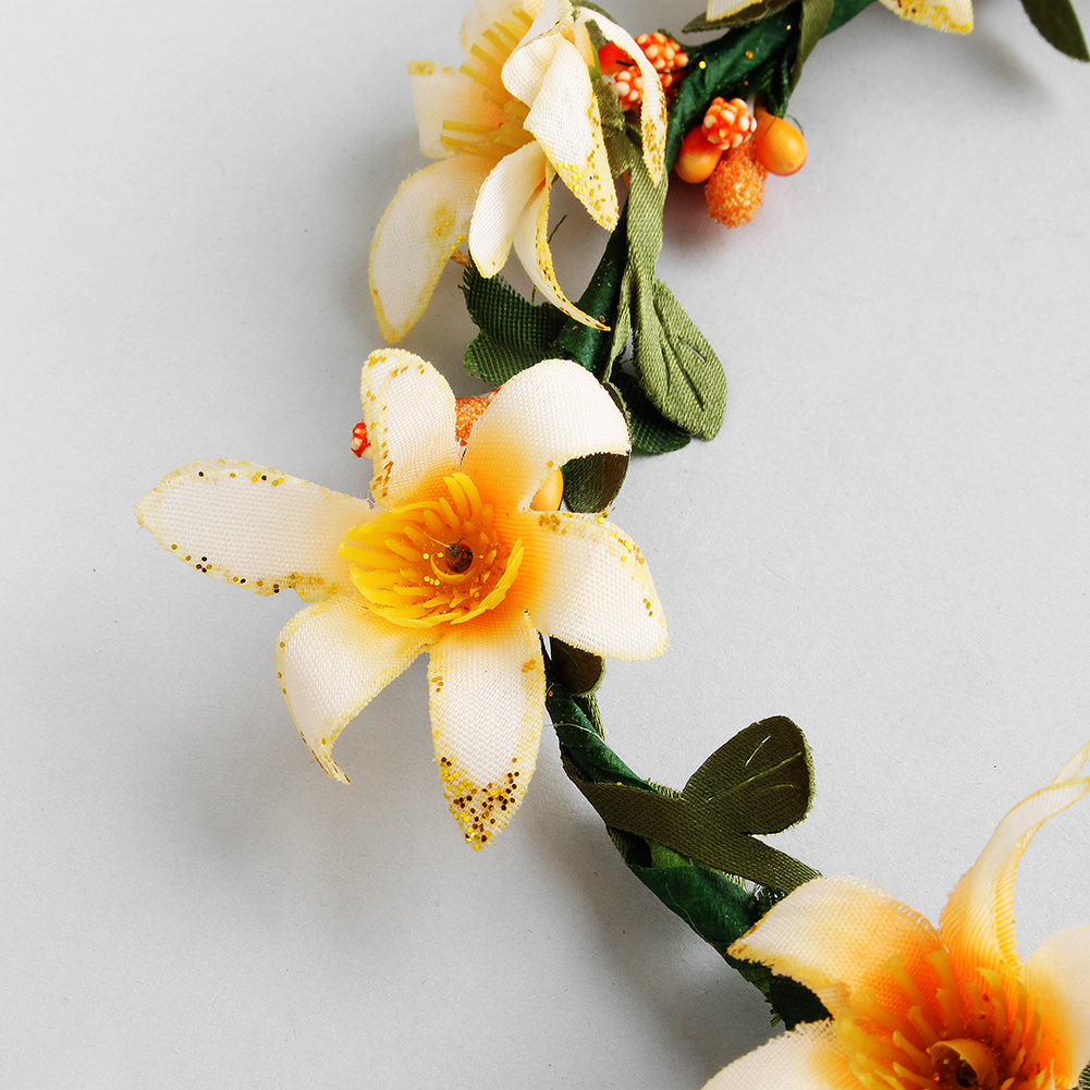 Cloth Fashion Flowers Hair accessories  (yellow) NHHS0415-yellow
