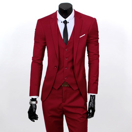 Suit men's three-piece youth coat fit wedding dress professional men's suit