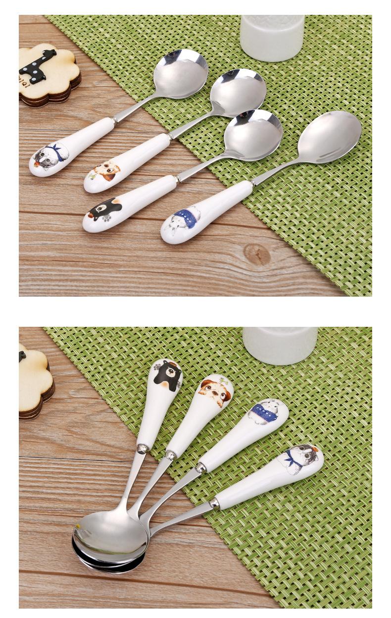 Children tableware stainless steel cutlery fork spoon cartoon stainless steel spoon set children meal NHJA204078
