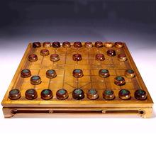天然金絲楠實木雙用棋盤桌 象棋 圍棋 木質擺件 廠家直銷定制