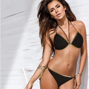 New triangle split soft cup bikini two-piece swimsuit spot manufacturer wholesale swimwear