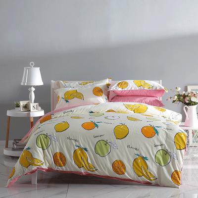 多喜爱家纺40支纯棉四件套全棉水果床上用品床单被套四件套批发