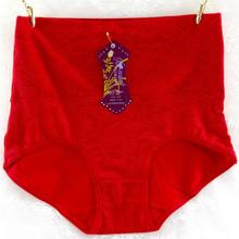 女士高腰內褲批發 大板型美體全棉女三角 女式提花收腹功能褲廠家