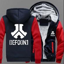 2018冬装外套 DEF男款 加绒加厚保暖 男士卫衣棉质外套休闲卫衣