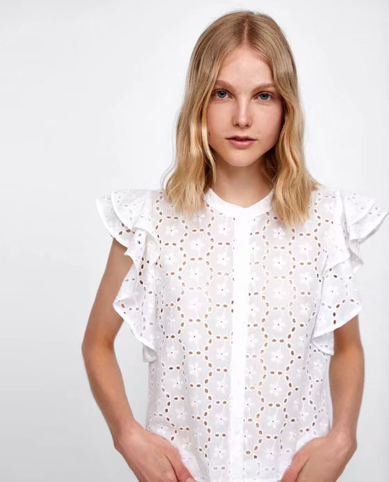 Cotton Fashionshirt(White-S) NHAM4347-White-S