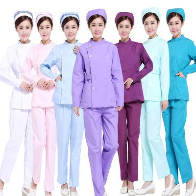 Nurse Hospital doctor dress long sleeve body cover female Ji Yuesao Hospital doctor nurse Hospital doctor dress political nursing home work dress blue