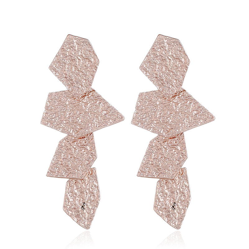 Crystal&CZ Fashion Geometric earring(KC gold and gold) NHKQ1590-KC gold and gold