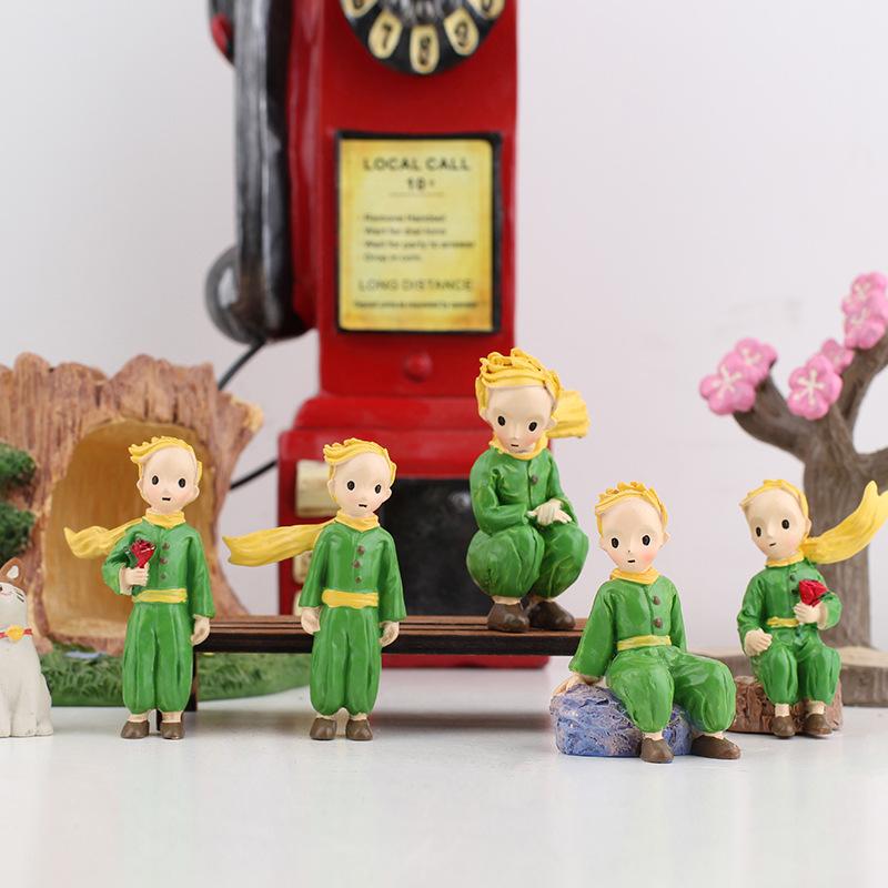 小王子樹脂擺件創意蛋糕裝飾品家居工藝品微景觀場景花盆搭配道具