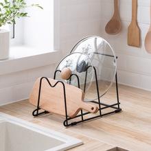 納川多功能多用鍋蓋砧板抹布收納架 廚房臺面鐵制多層置物整理架