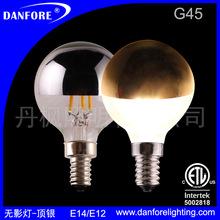 2W 4W可调光G45 G14 顶银金无影灯 LED球泡灯 装饰酒吧 厂家直销