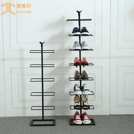 Simple small household movable shoe rack porch multi-layer iron storage shelf shoe display rack