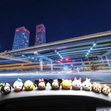 創意疊疊樂公仔米奇米妮汽車擺件車內儀表臺飾品卡通內飾車載用品