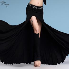 Dance belly dance practice clothes half-length skirt modal split ends big swing skirt practice long skirt female beginner sexy