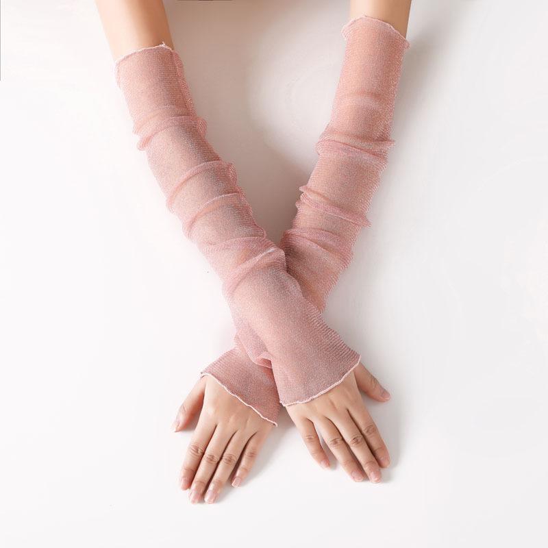 金银丝袖套粉色.jpg