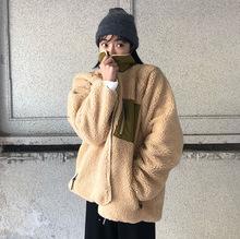 韓國人氣推薦款 超保暖羊羔毛兩面穿棉衣外套2色