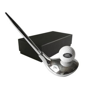 跨境電商創意辦公桌面筆筒高爾夫賽事活動高爾夫球頭筆座禮品套裝