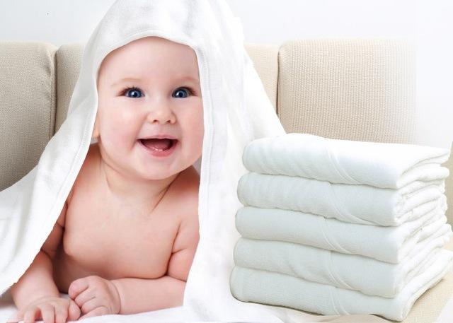 厂家直销婴儿浴巾白色纯棉毛巾料斗篷带帽 加工定制品 婴幼儿用品