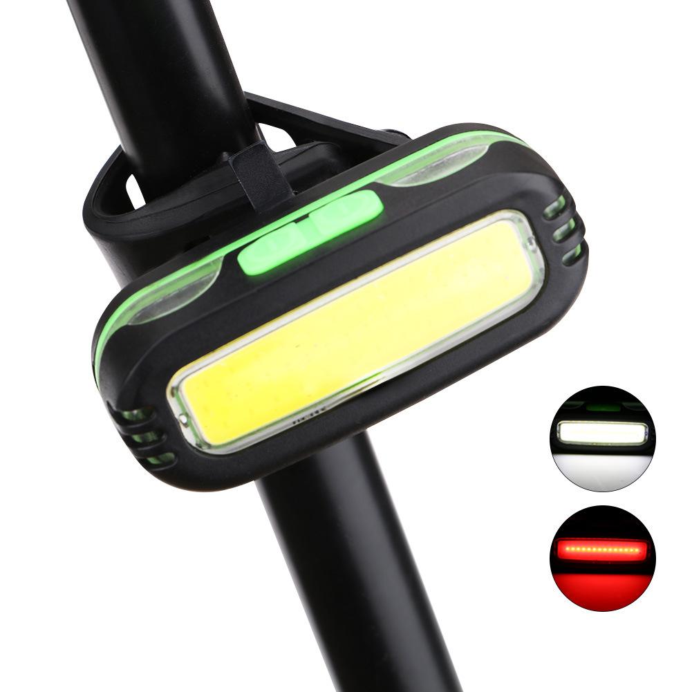 跨境COB LED头灯自行车灯 二合一尾灯夜骑照明灯骑行装备车灯配件