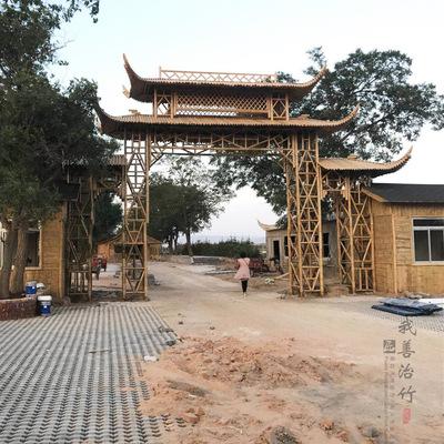 免费设计承建竹亭竹楼竹房子竹景观竹长廊装修竹桥竹建筑竹牌坊