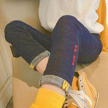 女童加绒牛仔裤2018秋冬装新款韩版洋气长裤韩版童装儿童外穿裤子