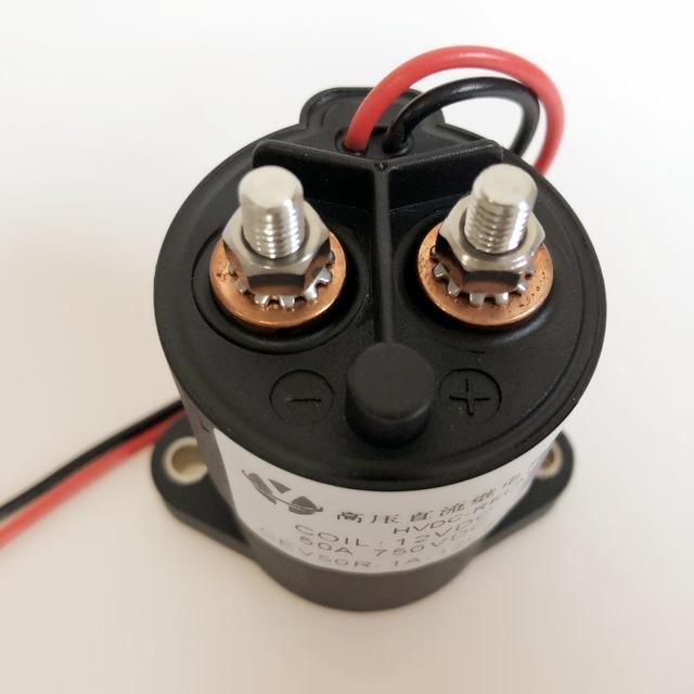 EV电动车继电器   50A 24VDC高压直流继电器 永磁真空灭弧