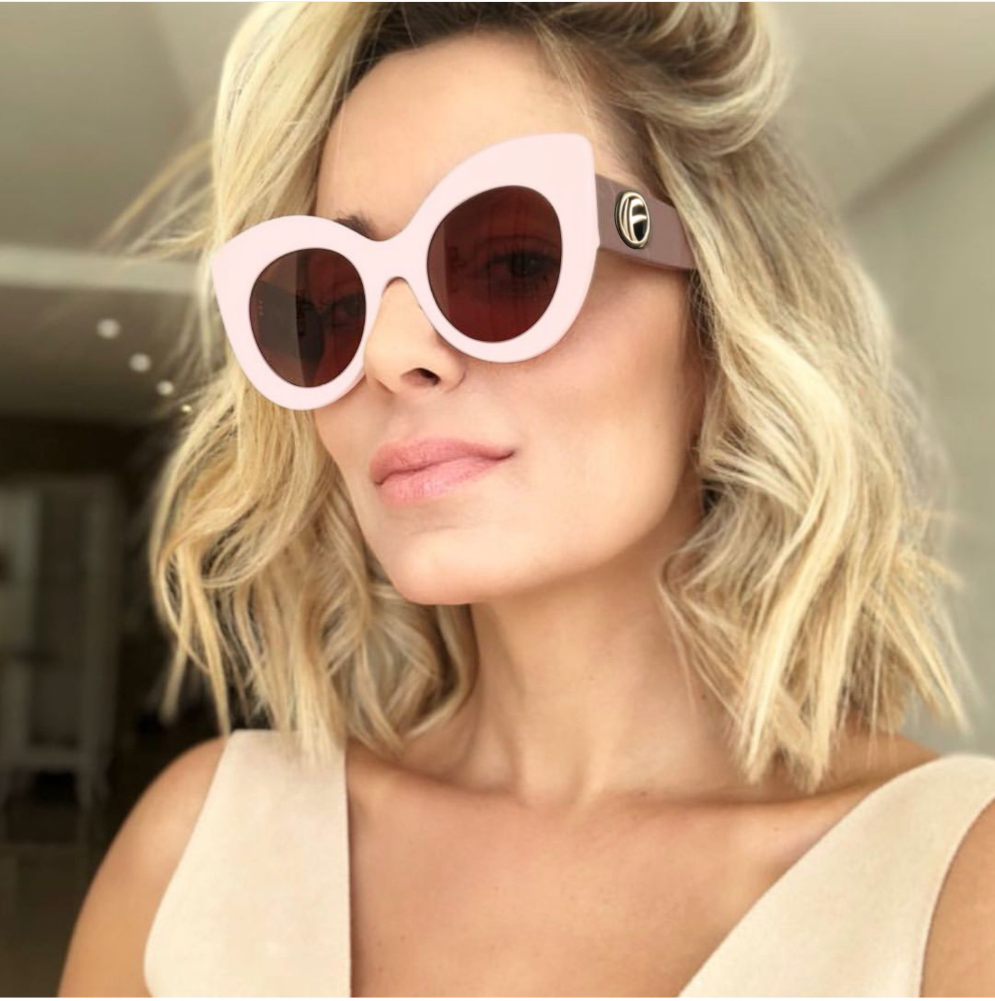 FASHION LINE 307 57-14 130 Made in Italy Original Vintage Frame from Sunglasses Woman Classic Elegente Moda 7080 Styler For Summer 2019