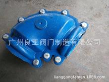 供應定制PE彎頭哈夫節堵漏器 90度彎頭搶修節 QT450球墨鑄鐵材質