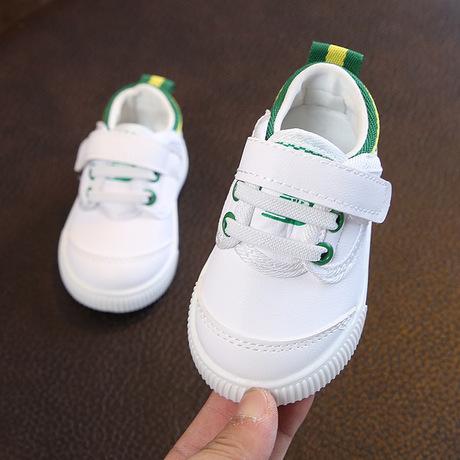 Xuân 2018 mới 0-1-2 tuổi nam nữ giày trắng đế mềm đế mềm chống trượt cho bé mới biết đi Giày em bé
