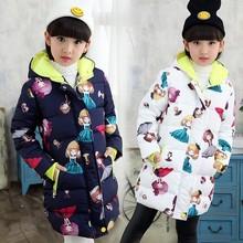 女童童装2019冬季新款儿童棉衣外套童装中长款大童棉服一件代发潮