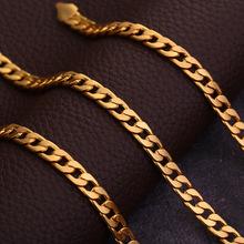 外贸亚马逊货源18K镀金项链男款 ebay外贸爆款项链现货 厂家定做